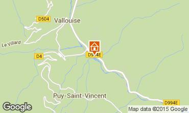 Carte Puy Saint Vincent Chalet 94407