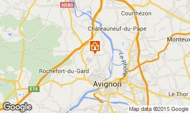 Carte Villeneuve lez Avignon Gite 82877