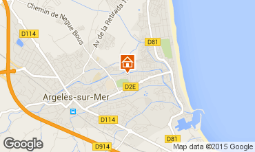 Carte Argeles sur Mer Appartement 69387