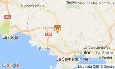 Carte Bandol Villa 96989