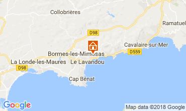 Carte Le Lavandou Villa 98753