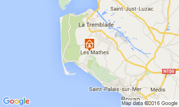 Carte La Palmyre Mobil-home 104050