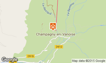Carte Champagny en Vanoise Appartement 579