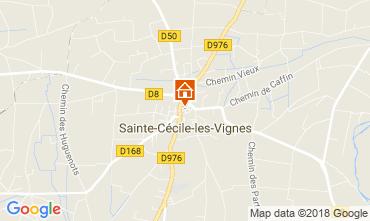 Carte Sainte-Cécile-les-Vignes Gite 113447
