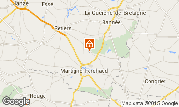 Carte Rennes Gite 59774