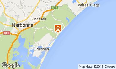 Carte Narbonne plage Villa 82937