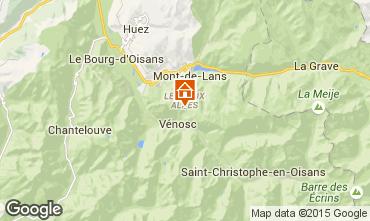 Carte Les 2 Alpes Chalet 60919