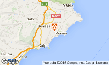 Carte Moraira Villa 87365