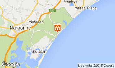 Carte Narbonne plage Villa 9173