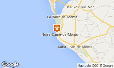 Carte Notre Dame de Monts Appartement 97243