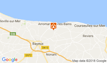 Carte Arromanches Gite 102250
