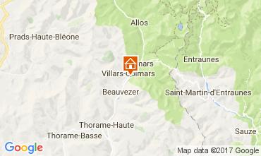 Carte Val d'Allos Chalet 3208