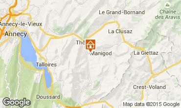 Carte Manigod-Croix Fry/L'étale-Merdassier Chalet 27781