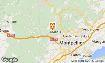 Carte Montpellier Gite 86698