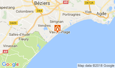 Carte Valras-Plage Appartement 114554