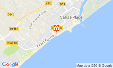 Carte Valras-Plage Appartement 114554