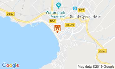 Carte Saint Cyr sur Mer Villa 118107