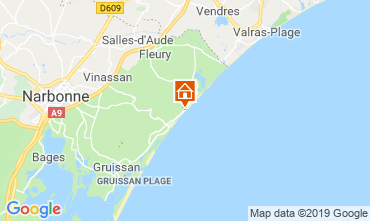 Carte Narbonne plage Appartement 119390