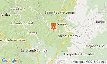 Carte Saint Ambroix Gite 104205