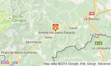 Carte Amélie-Les-Bains Studio 106653