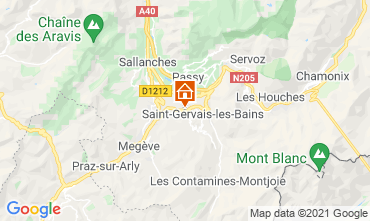 Carte Saint Gervais Mont-Blanc Chalet 2611
