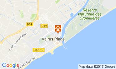 Carte Valras-Plage Appartement 109062
