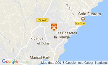 Carte Calpe Chalet 115353