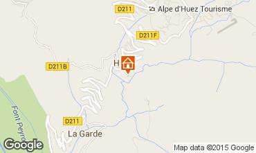 Carte Alpe d'Huez Studio 72