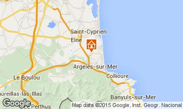 Carte Argeles sur Mer Mobil-home 9804