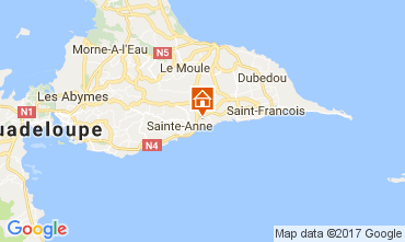 Carte Sainte Anne (Guadeloupe) Bungalow 58644