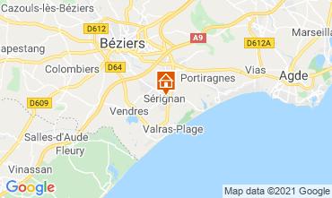 Carte Sérignan Plage Appartement 93177