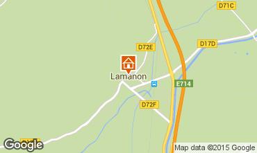 Carte Lamanon Gite 63660