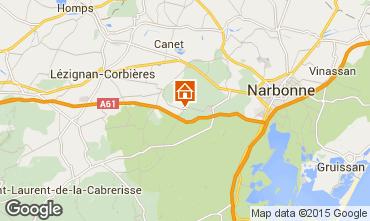 Carte Narbonne Gite 93393