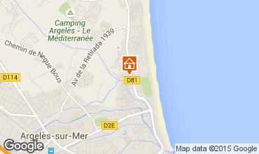 Carte Argeles sur Mer Appartement 84346