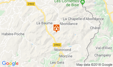 Carte Morzine Chalet 116537