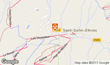 Carte Saint Sorlin d'Arves Chalet 2686