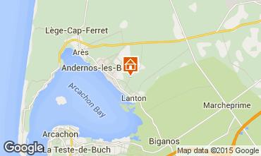 Carte Andernos les Bains Gite 91292