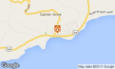 Carte Sainte Anne (Guadeloupe) Gite 8037