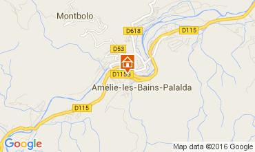 Carte Amélie-Les-Bains Appartement 104098