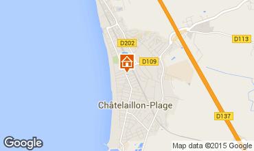 Carte Ch�telaillon plage Appartement 71043
