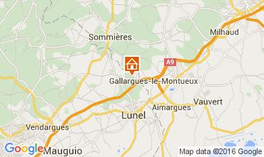 Carte Montpellier Gite 103269