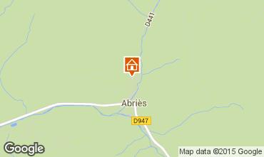 Carte Abriès Chalet 69713