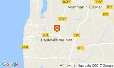 Carte Hauteville-sur-Mer Gite 40949