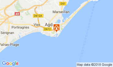 Carte Cap d'Agde Studio 113024