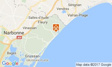 Carte Saint Pierre la Mer Villa 110021