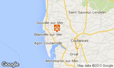 Carte Blainville-sur-Mer Gite 60256