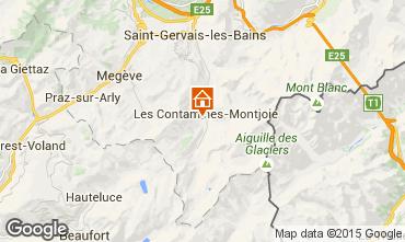 Carte Les Contamines Montjoie Chalet 50772