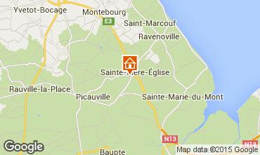 Carte Sainte-M�re-�glise Gite 74253
