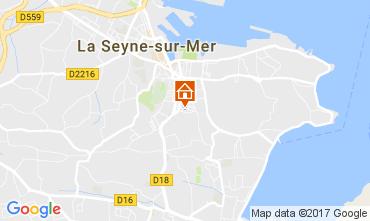Carte La Seyne sur Mer Appartement 108145