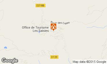 Carte Les Saisies Studio 73974